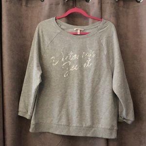 Victoria Secret oversized 3/4 sleeved sweatshirt